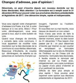 2016 inscriptions liste electorales
