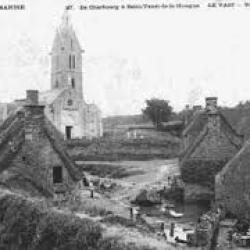 L'église et le bourg autrefois