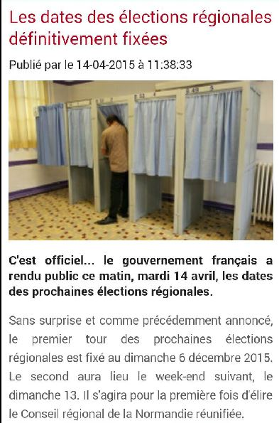 Election regionales 2015